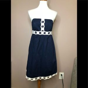 Lilly Pulitzer navy blue and white dress